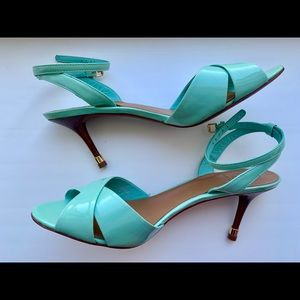 Tory Burch turquoise heel sandals
